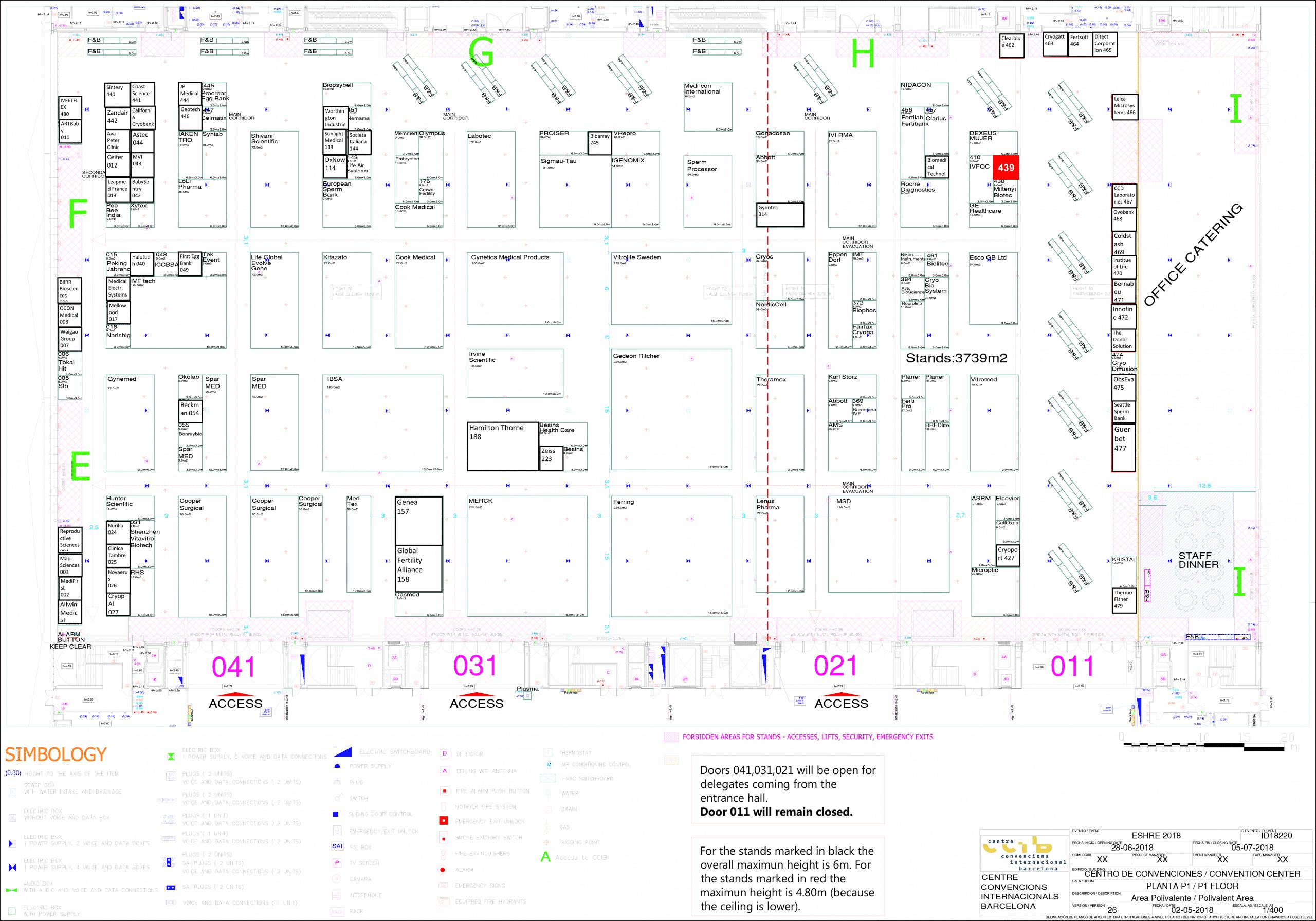 Exhibit floorplan